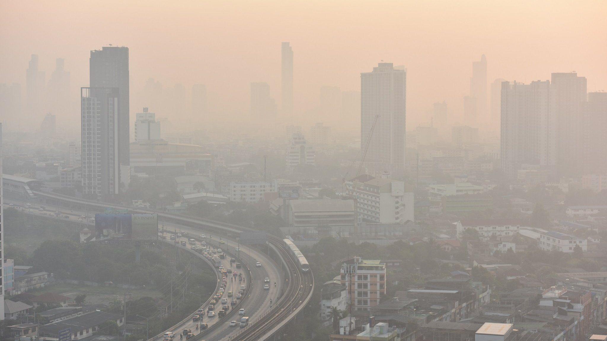 ไทยค่าฝุ่น PM2.5 เกินมาตฐานติดอันดับ 6 ของโลก